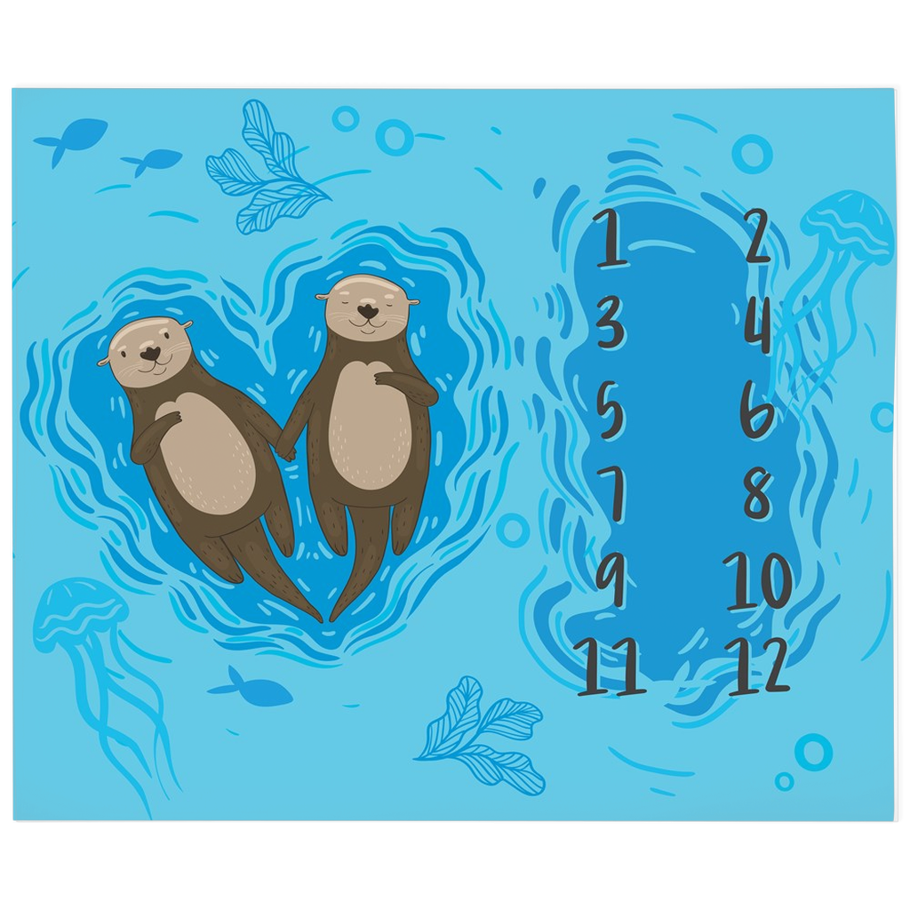 Cuddle Otters Milestone Blanket
