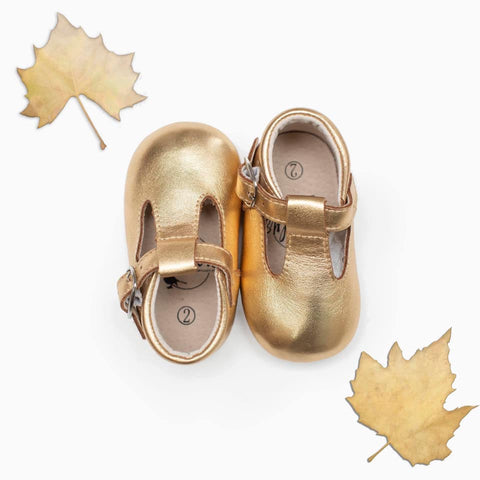 Autumn Gold T-Strap Babalus Shoes