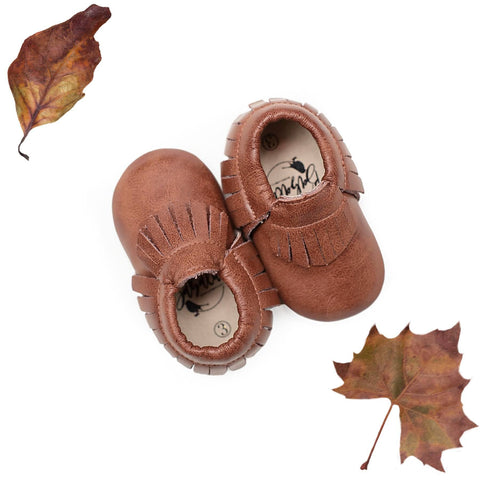 Weathered Chestnut Moccasins