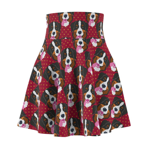 Bernese Mountain Dog Women's Skater Skirt