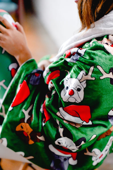 Christmas French Bulldog Blanket