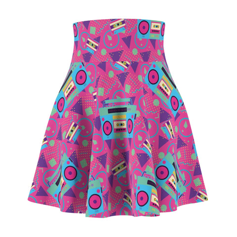 1980's boom box Women's Skater Skirt