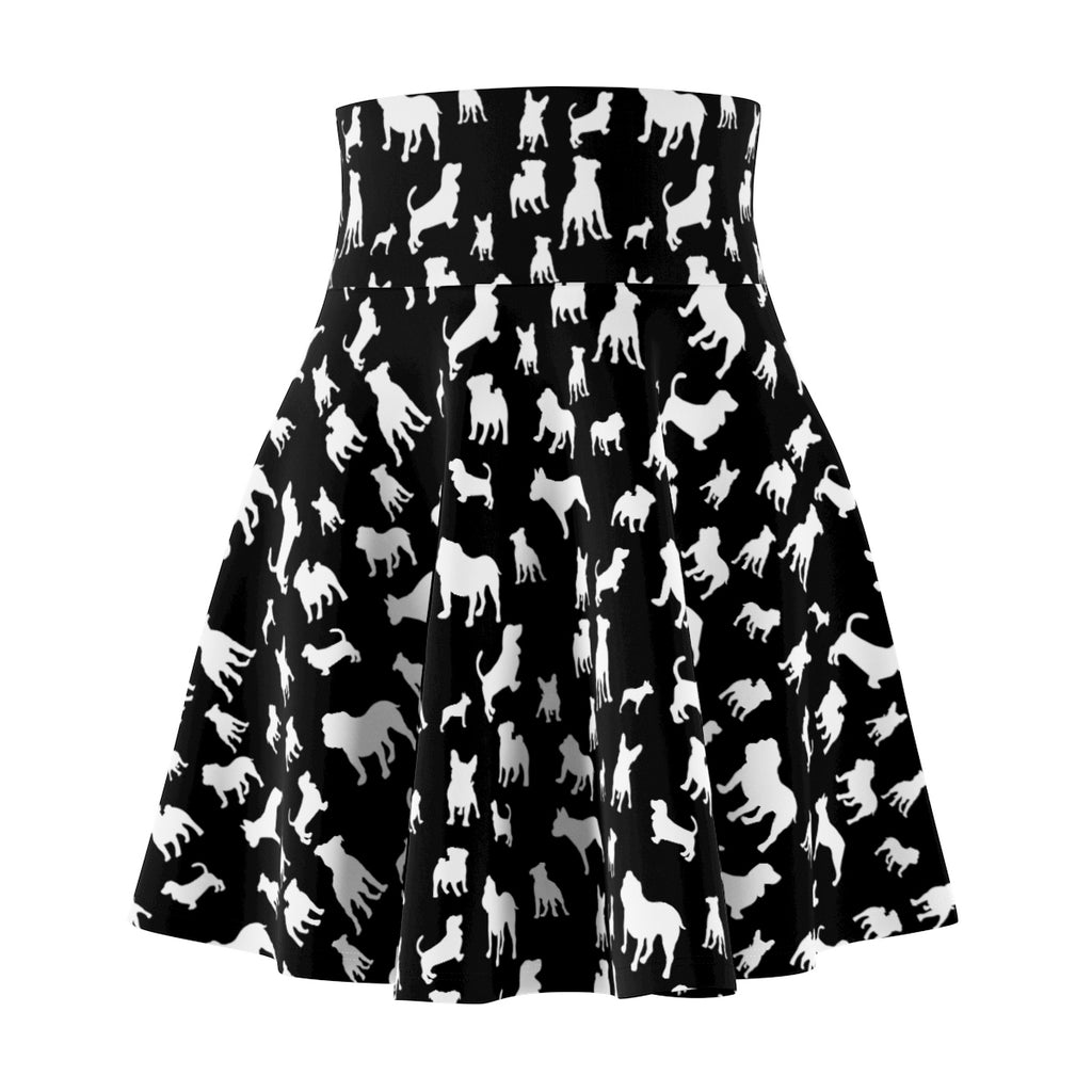 Monochrome Puppies Women's Skater Skirt
