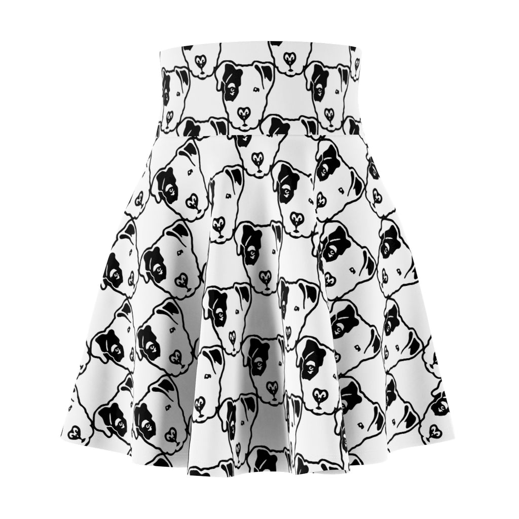 Pitbull Face Women's Skater Skirt