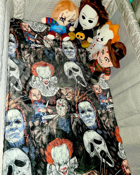 Scary Dudes Crib Sheets