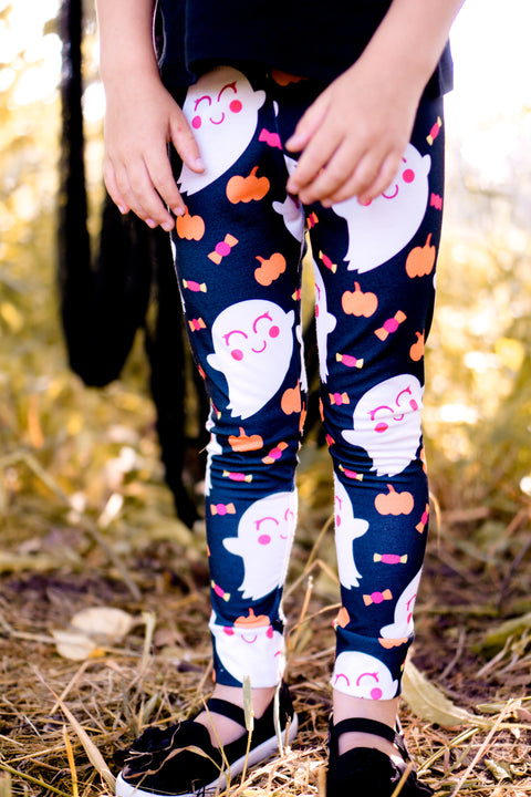 Halloween Candy Ghost Leggings