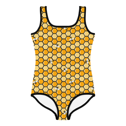 Honeycomb Bee Kids Swimsuit