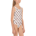 Floral Weiner Dog Dachshund Kids Swimsuit