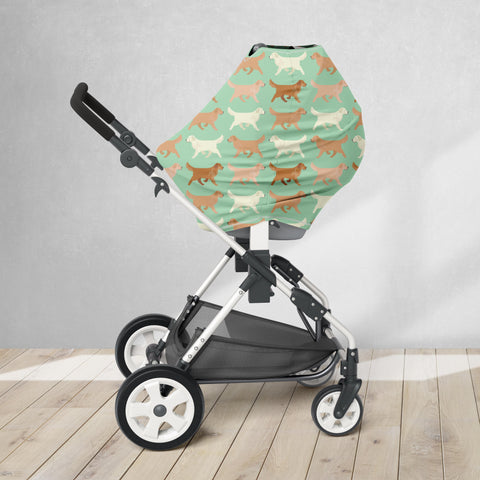 Golden Retriever Car Seat/ Nursing Cover