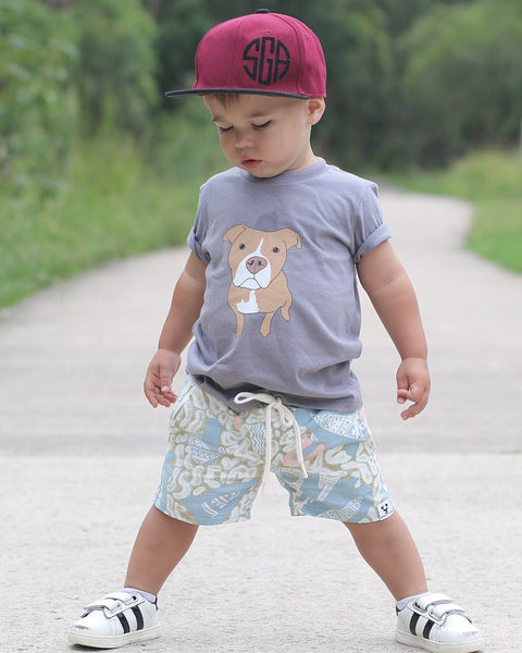 Tan Pitbull Short sleeve kids t-shirt