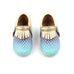 Green and Gold Mermaid Moccasins