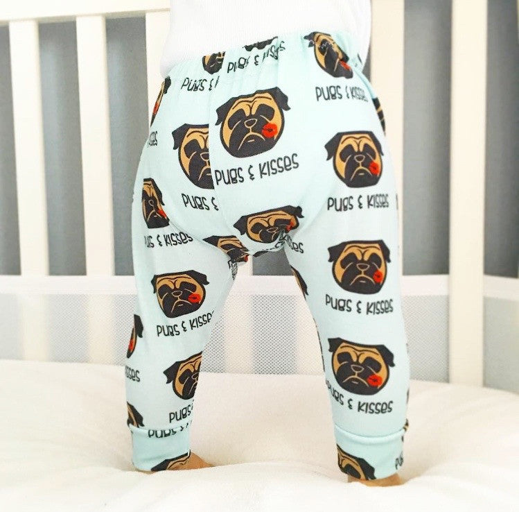 Pug Love Pugs & Kisses Leggings - Babalus By Lucy