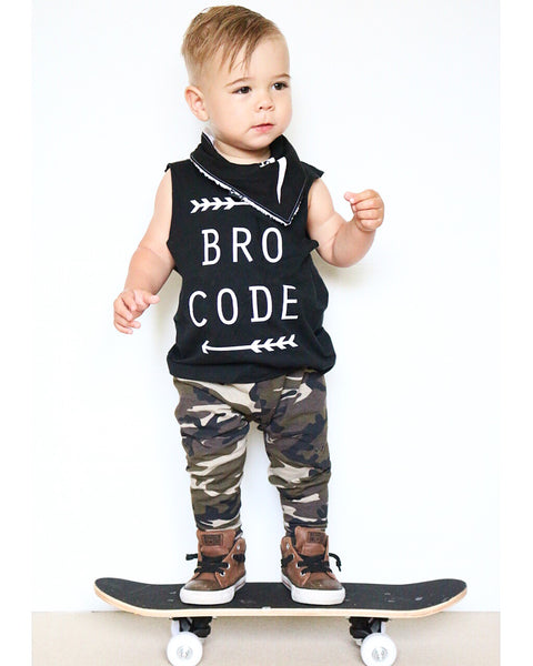 Camo Print Leggings - Army Baby
