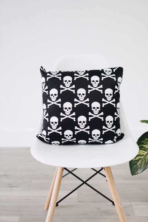 Skull & Crossbones Square Pillow