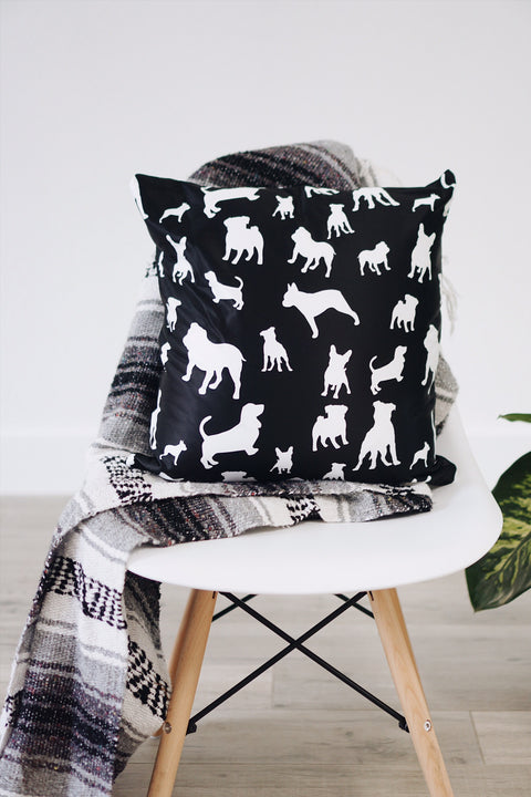 Mixed Puppies Square Pillow