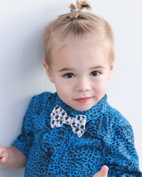 Pitbull Face Organic Cotton Kids Clip On Bow Tie