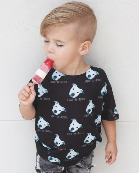 LUV A BULL Pitbull All-over kids sublimation T-shirt