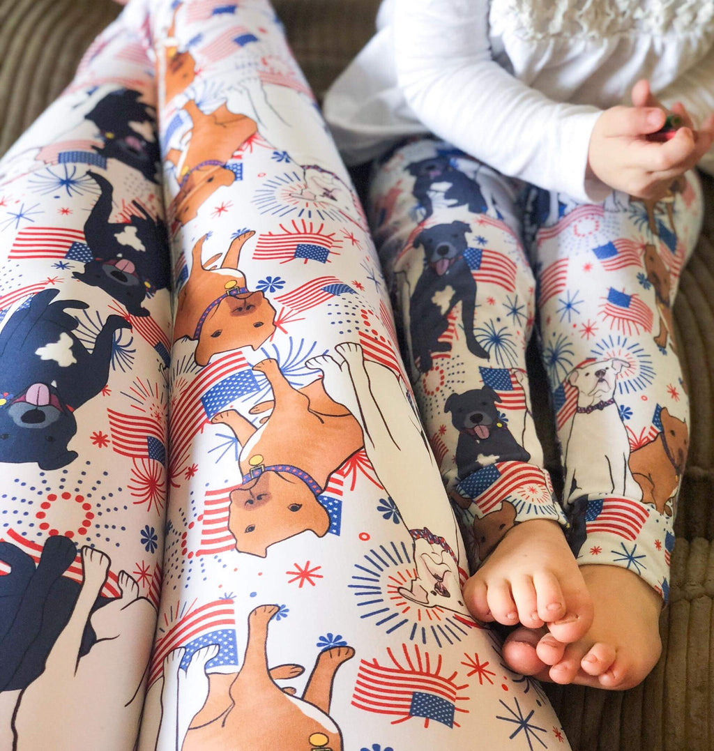 Red, White & Blue Pitbull Leggings