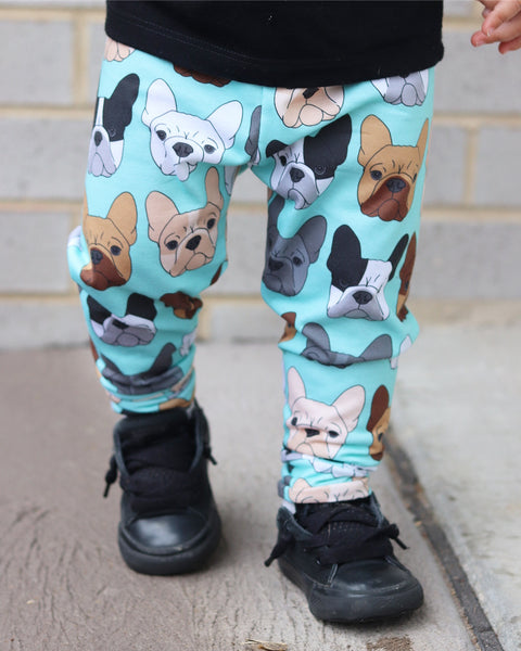 READY TO SHIP - French Bulldog Print Leggings