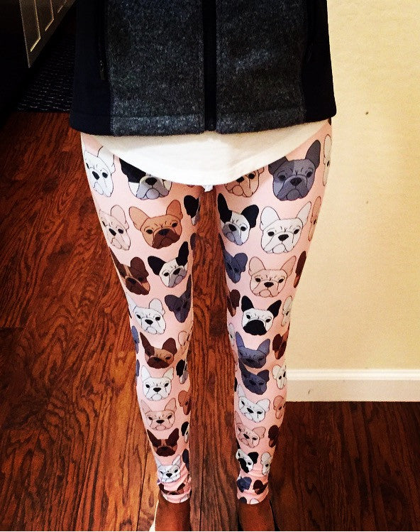 French Bulldog on Peach Women's Leggings