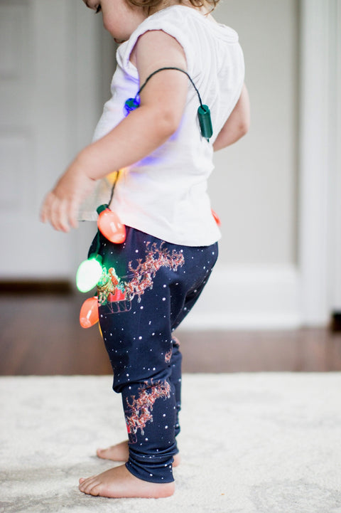 Christmas Santa's Sleigh Leggings