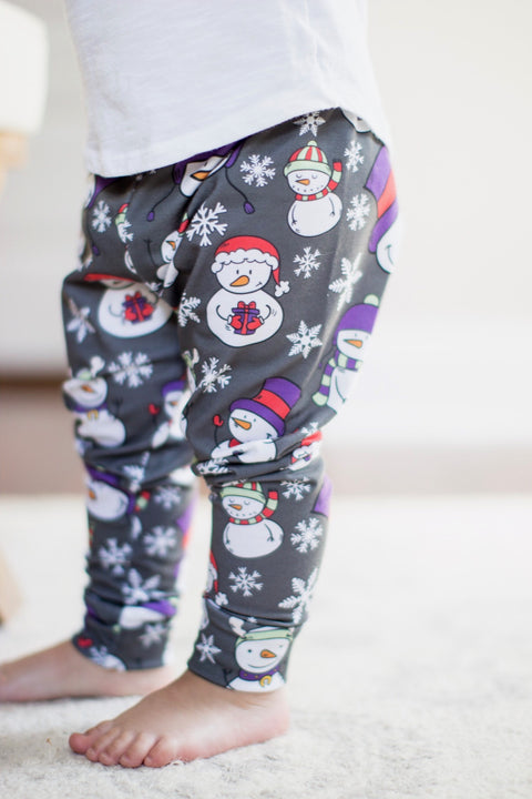 Christmas Snowman Winter Wonderland Leggings