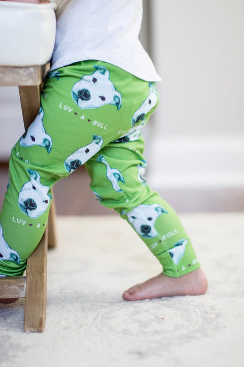 READY TO SHIP - Luv A Bull Pitbull Print Leggings