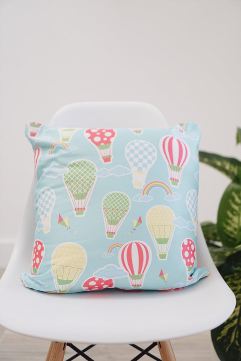 Hot Air Balloon Square Pillow