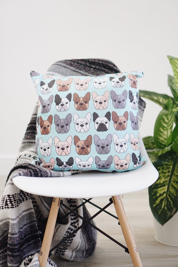 French Bulldog Square Pillow