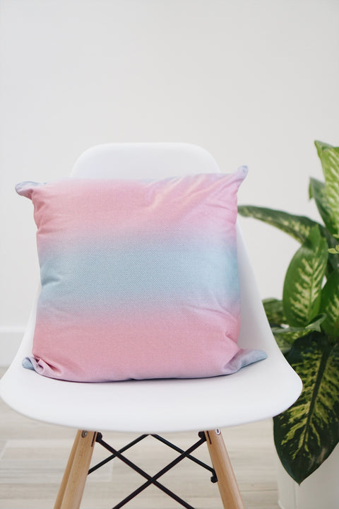 Cotton Candy Mermaid Square Pillow