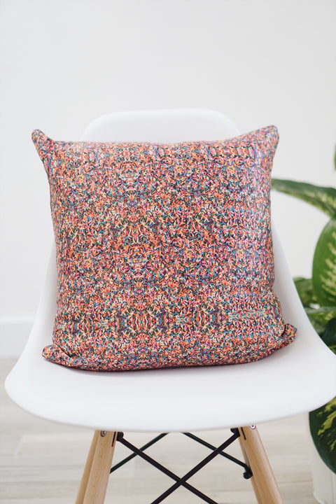 Rainbow Sprinkle Square Pillow