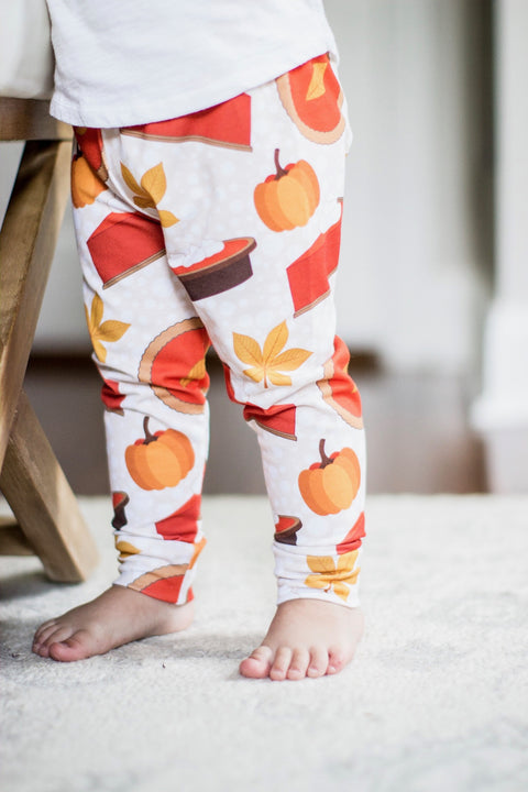 Thanksgiving Fall Pumpkin Pie Leggings