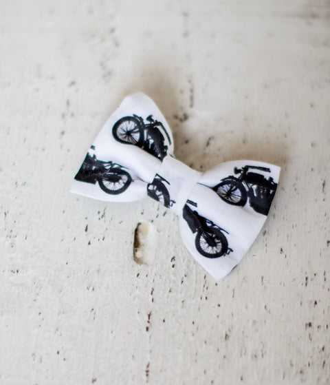 Motorcycle Organic Cotton Hair Bow