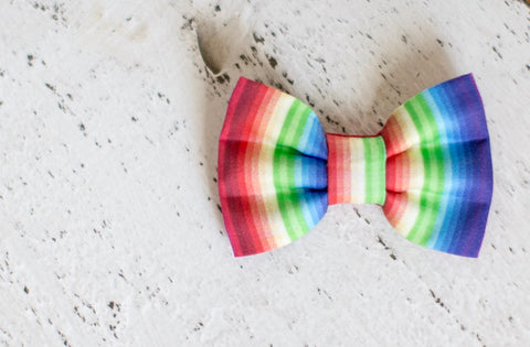 Rainbow Organic Cotton Hair Bow