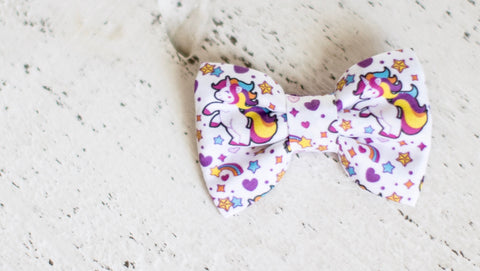 Unicorn Organic Cotton Hair Bow