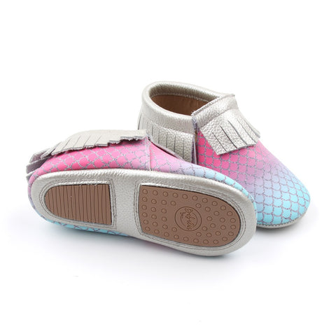 Cotton Candy Mermaid Moccasins