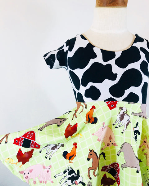 Farm Print Ballerina Twirl Dress