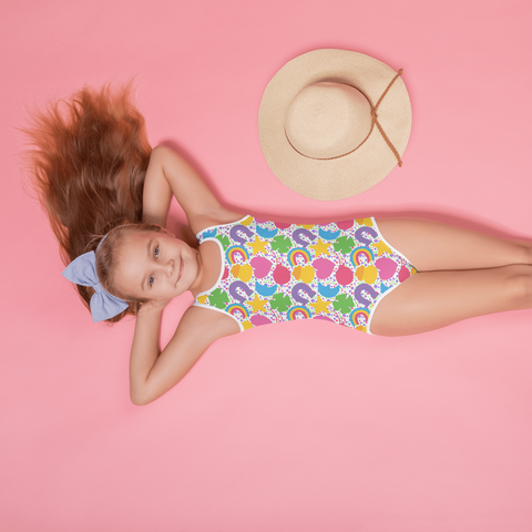 Lucky Marshmallows Kids Swimsuit
