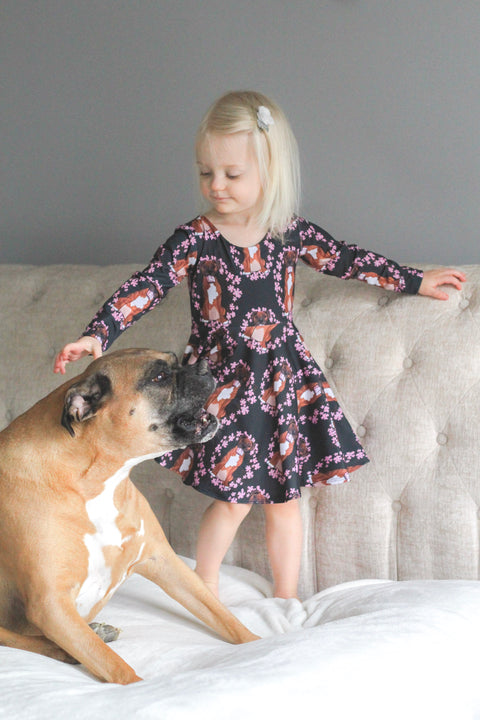 Riley the Boxer Ballerina Twirl Dress