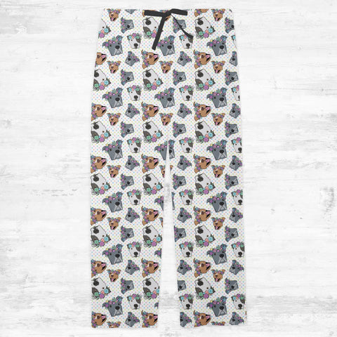 Polka Pitty Pitbull Adult Pajamas