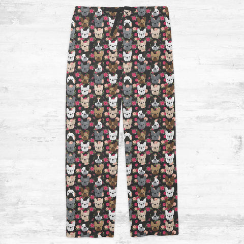 Floral French Bulldog Adult Pajamas
