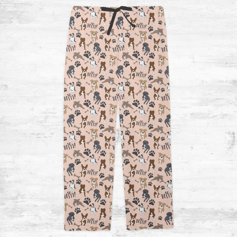 So Pitty on Peach Pitbull Adult Pajamas