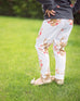 Gold Stag Floral Leggings