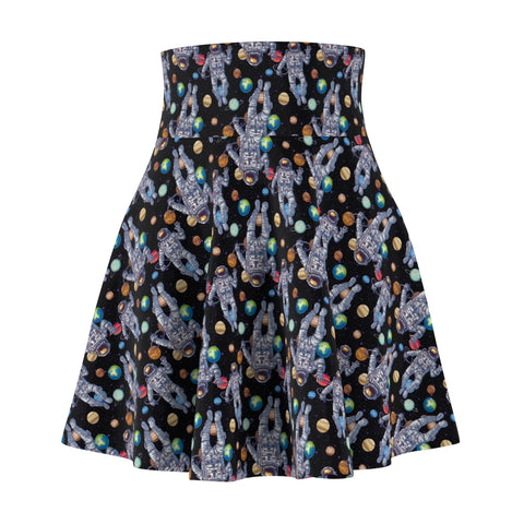 Astronaut Planet Women's Skater Skirt