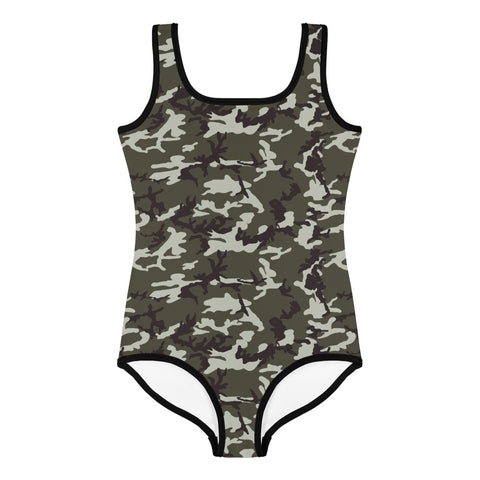 Camouflage All-Over Print Kids Swimsuit