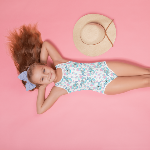 Cotton Candy Lobster Kids Swimsuit
