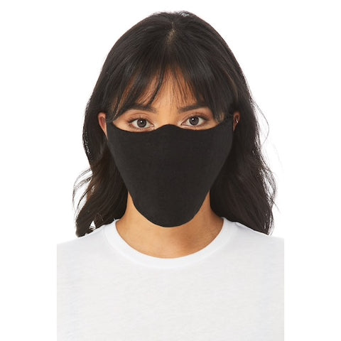 $1.50 BELLA+CANVAS® Black Fleece Face Mask