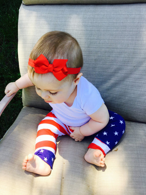 American Flag Patriotic Red, White & Blue Leggings