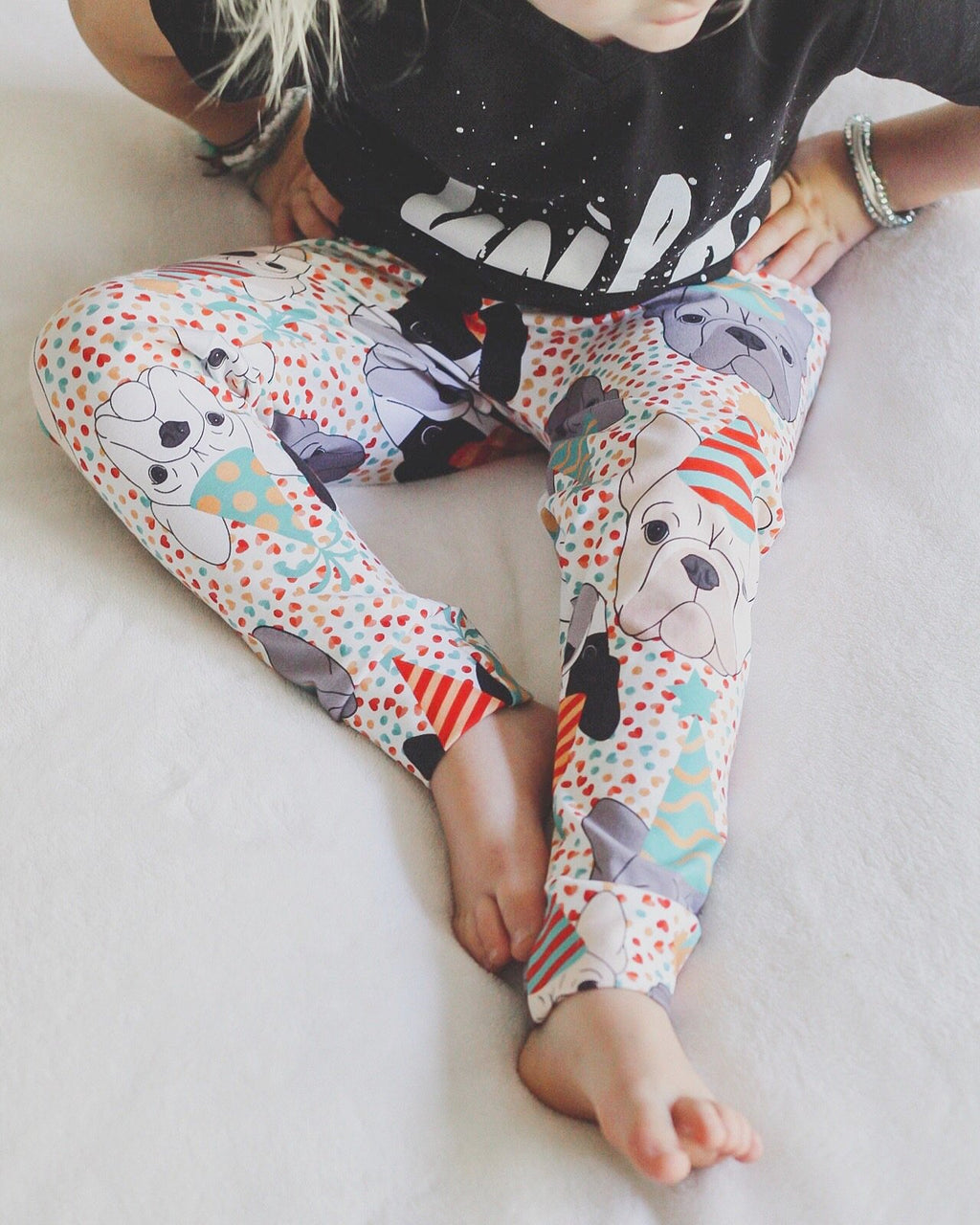 Party French Bulldog Leggings