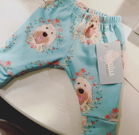 Goldendoodle / Wheaten Terrier Floral Leggings